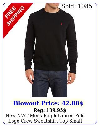 nwt mens ralph lauren polo logo crew sweatshirt top small medium large x