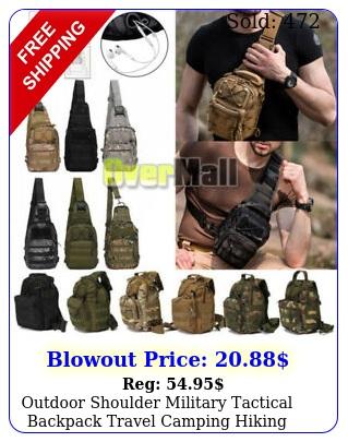 outdoor shoulder military tactical backpack travel camping hiking trekking ba