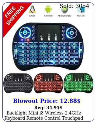 backlight mini i wireless ghz keyboard remote control touchpad smart t