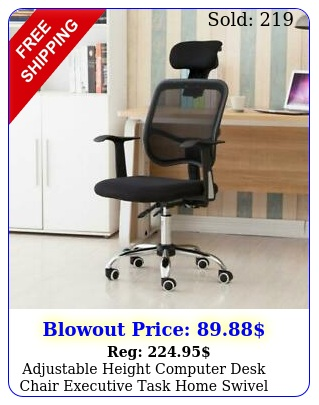 adjustable height computer desk chair executive task home swivel office chai