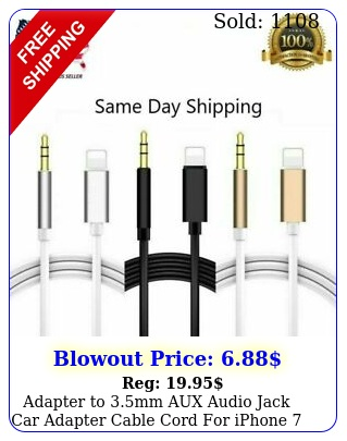 adapter to mm aux audio jack car adapter cable cord iphone  x xs xr u