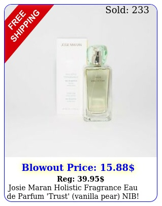 josie maran holistic fragrance eau de parfum 'trust' vanilla pear ni