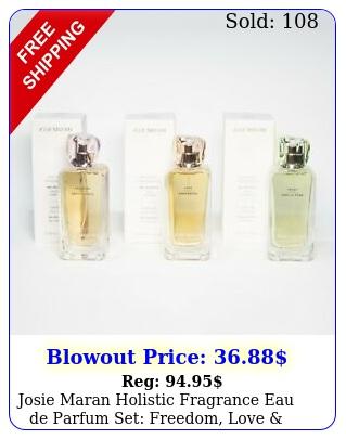 josie maran holistic fragrance eau de parfum set freedom love trus