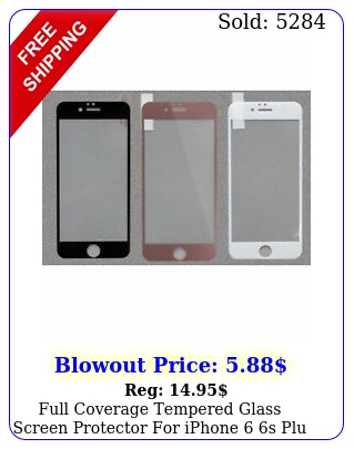 full coverage tempered glass screen protector iphone s plu  plus x x