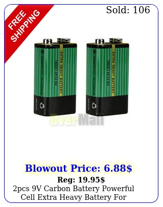 pcs v carbon battery powerful cell extra heavy battery electronic device