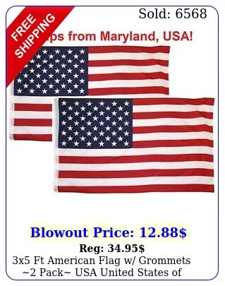 x ft american flag w grommets pack usa united states of america us flag