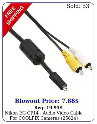 nikon egcp audio video cable coolpix camera