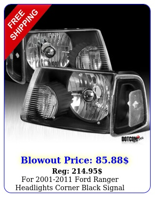 ford ranger headlights corner black signal lamps corner light