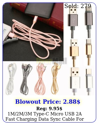 mmm typec micro usb a fast charging data sync cable android phone