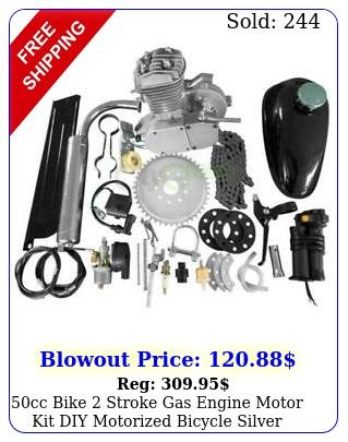 cc bike stroke gas engine motor kit diy motorized bicycle silve