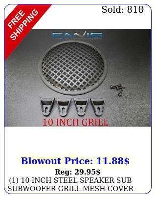 inch steel speaker sub subwoofer grill mesh cover w clips screws glk