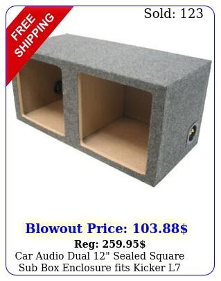 car audio dual sealed square sub enclosure fits kicker l subwoofe