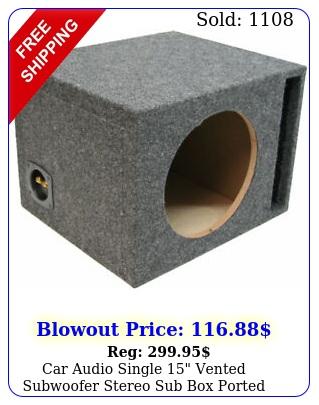 car audio single vented subwoofer stereo sub ported enclosure custom md