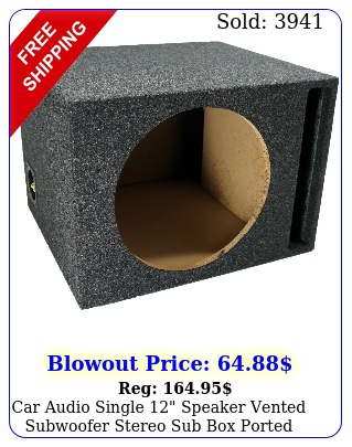 car audio single speaker vented subwoofer stereo sub ported enclosur