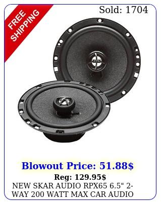 skar audio rpx way watt max car audio coaxial speakers pai