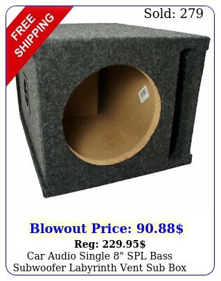 car audio single spl bass subwoofer labyrinth vent sub stereo enclosur