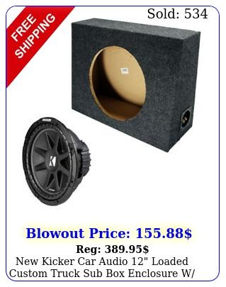 kicker car audio loaded custom truck sub enclosure w c subwoofe