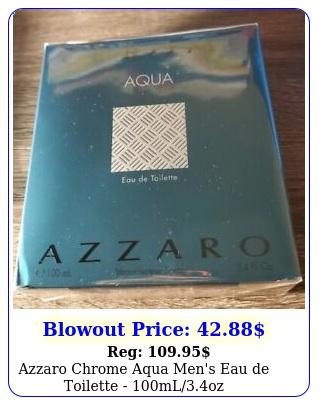 azzaro chrome aqua men's eau de toilette mlo