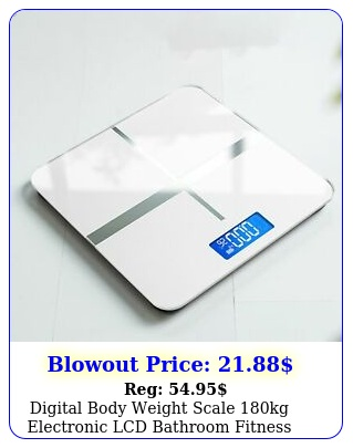 digital body weight scale kg electronic lcd bathroom fitness tempered glas