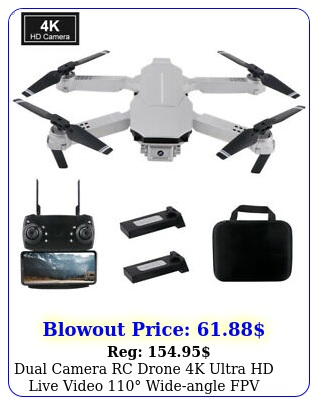 dual camera rc drone k ultra hd live video wideangle fpv quadcopter gift