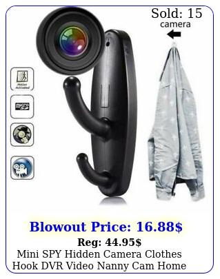 mini spy hidden camera clothes hook dvr video nanny cam home motion detectio