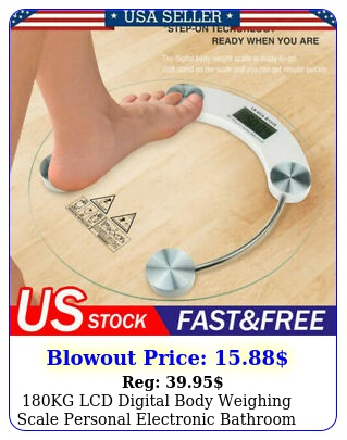 kg lcd digital body weighing scale personal electronic bathroom weight scal