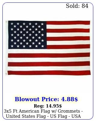 x ft american flag w grommets united states flag us flag usa americ