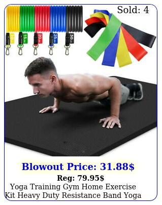 yoga training gym home exercise kit heavy duty resistance band  yoga ma