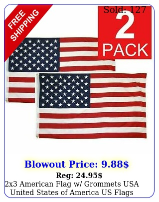 x american flag w grommets usa united states of america us flags decor pac