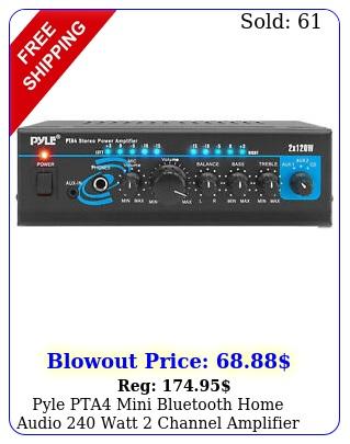 pyle pta mini bluetooth home audio watt channel amplifier stereo receive