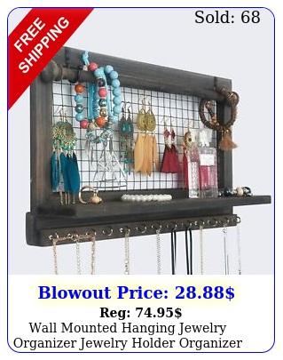 wall mounted hanging jewelry organizer jewelry holder organizer necklace holde