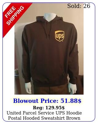 united parcel service ups hoodie postal hooded sweatshirt brown size