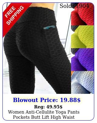 women anticellulite yoga pants pockets butt lift high waist leggings fitness o