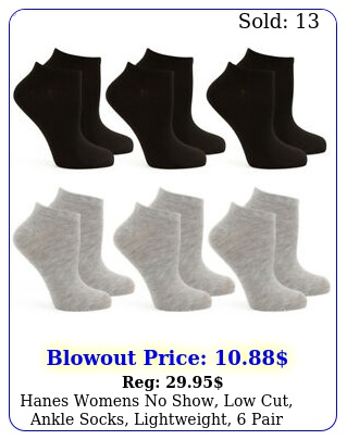 hanes womens no show low cut ankle socks lightweight pair pac
