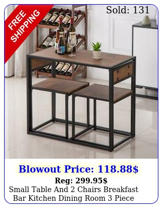 small table chairs breakfast bar kitchen dining room piece furniture se