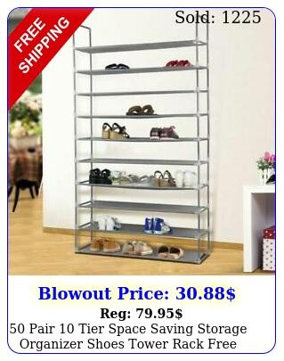 pair tier space saving storage organizer shoes tower rack free standin