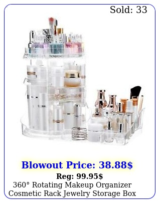rotating makeup organizer cosmetic rack jewelry storage case holder u