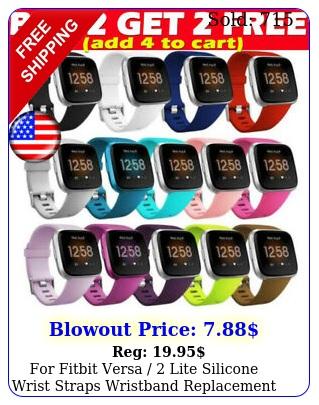 fitbit versa  lite silicone wrist straps wristband replacement watch ban