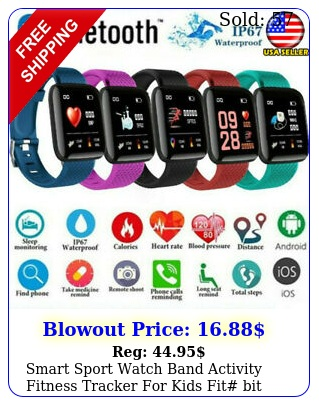 smart sport watch band activity fitness tracker kids fit bit android ios u