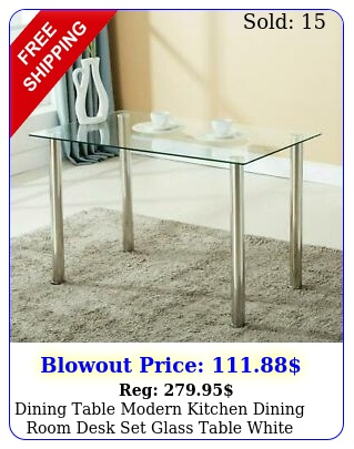dining table modern kitchen dining room desk set glass table whit