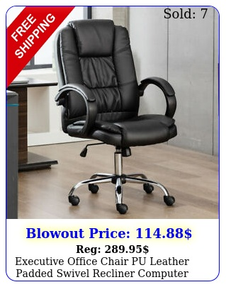 executive office chair pu leather padded swivel recliner computer gaming seat u
