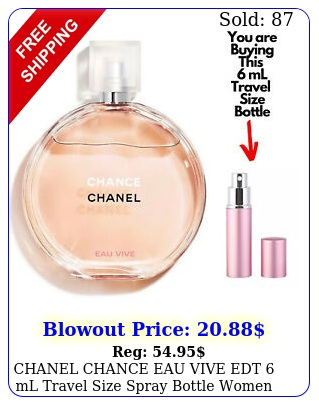 chanel chance eau vive edt ml travel size spray bottle women perfume sampl