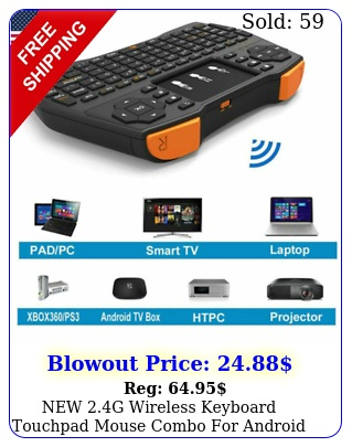 g wireless keyboard touchpad mouse combo android pc smart tv lapto