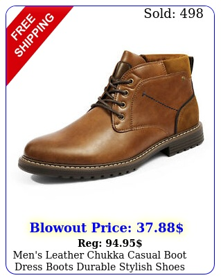men's leather chukka casual boot dress boots durable stylish shoes me