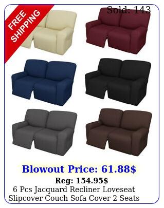 pcs jacquard recliner loveseat slipcover couch sofa cover seats elasticit