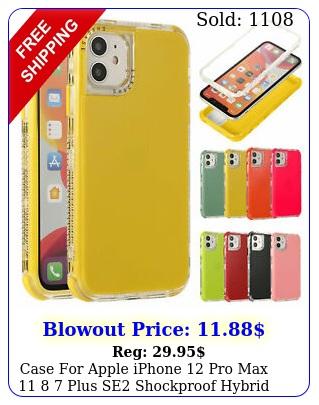 case apple iphone pro max  plus se shockproof hybrid bumper cove
