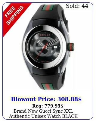 brand gucci sync xxl authentic unisex watch black y