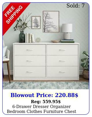 drawer dresser organizer bedroom clothes furniture chest white finis
