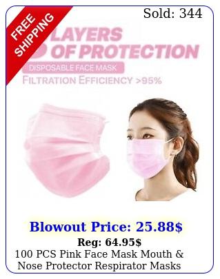 pcs pink face mask mouth nose protector respirator masks usa selle