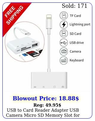 usb to card reader adapter usb camera micro sd memory slot iphone ipad ipo